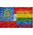 brick wall georgia and gay flags vector image vector image