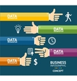 business infographics with hands Flat vector image vector image