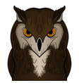 cartoon clip art owl mascot vector image vector image