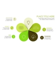 circle arrows green leaves eco infographic vector image vector image
