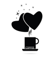 coffee cup with heart vector image vector image