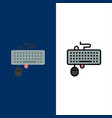 device interface keyboard mouse obsolete icons vector image vector image