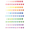 Different 100 colorful Balloons set vector image vector image