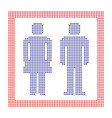 dotted sign for man and woman circle dots vector image