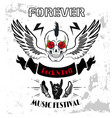 forever rock-n-roll poster vector image vector image