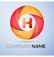 H letter colorful logo in the circle template for vector image vector image