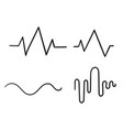 hand drawn doodle sound wave icon isolated vector image vector image