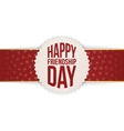 Happy Friendship Day Banner on red Ribbon vector image