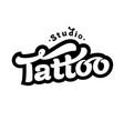 image of tattoo studio logo vector image vector image