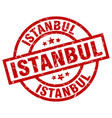 istanbul red round grunge stamp vector image vector image