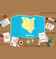 kenya africa kenya economy country growth nation vector image vector image
