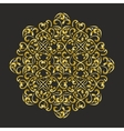 lacy golden mandala vector image vector image