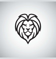 lion head logo simple vector image vector image