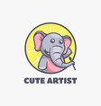 logo cute artistic simple mascot style vector image
