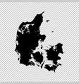 map denmark isolated black vector image