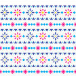 mexican floral seamless textile pattern vector image