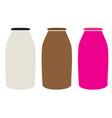 milk bottles icon on white background milk vector image vector image