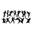 modern dancing vector image vector image
