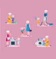 mother and daughter spend leisure together vector image vector image