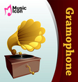 Music gramophone vector image