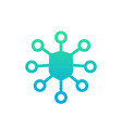 network security icon vector image vector image