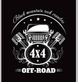 off-road extreme car or auto driver club vector image vector image