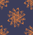 Orange Abstract Flowers vector image vector image