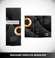 Orange circle black brochure layout vector image