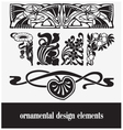 ornamental design elements vector image