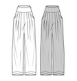 pants fashion flat sketch template13 vector image vector image