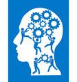 people working in gears brain vector image vector image