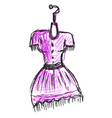 purple woman dress on white background vector image vector image