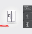 refrigerator line icon with editable stroke with vector image vector image