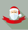 santa claus and red ribbon vector image vector image