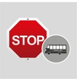 School bus side stop road sign design