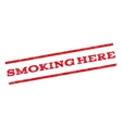 Smoking Here Watermark Stamp vector image vector image
