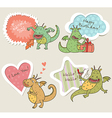 Speech bubbles with dragon vector image vector image