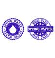 spring water grunge stamp seals vector image vector image