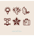 summer holidays icon collection vector image