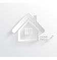 symbol of house white paper origami home icon vector image