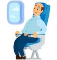 terrified airplane passenger shocked turbulent