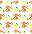 tropical seamless monkey pattern vector image vector image