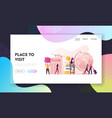vacation budget landing page template characters vector image vector image