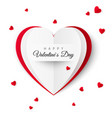 valentine greeting card with the inscription of a vector image