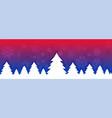 vibrant christmas tree banner design for festival vector image