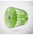Wireframe cylinder polygonal element vector image vector image
