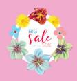 big sale banner circle label vector image