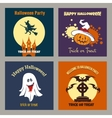 Halloween party scary flat posters vector image