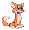 Cute smiling cat vector image