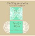 laser cut wedding invitation or greeting vector image